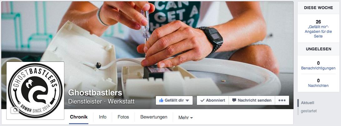 Geil – die Ghostbastlers jetzt auch auf Facebook