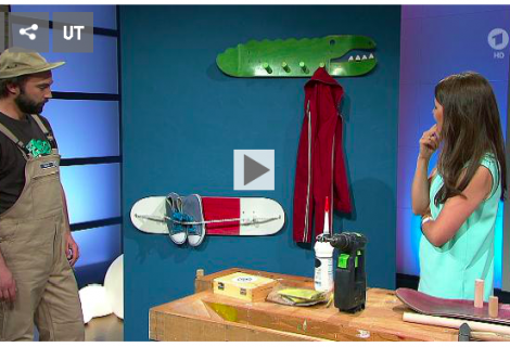 ARD Buffet – Skateboardgarderobe