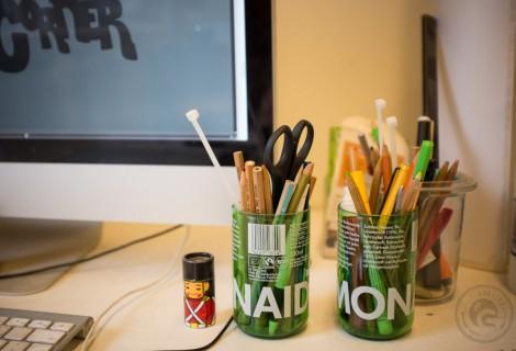 Stiftehalter aus Flaschen