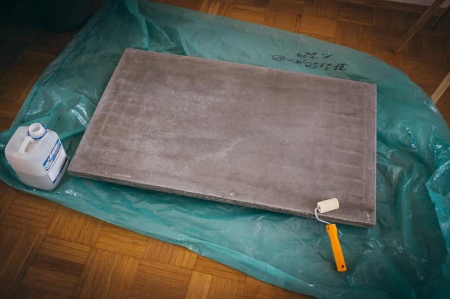 ghostbastlers tischplatte aus beton. Black Bedroom Furniture Sets. Home Design Ideas