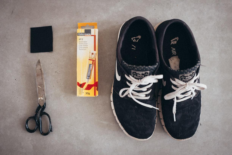 sneaker kleben