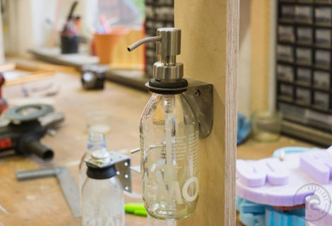 Prototyp Seifenspenderhalter