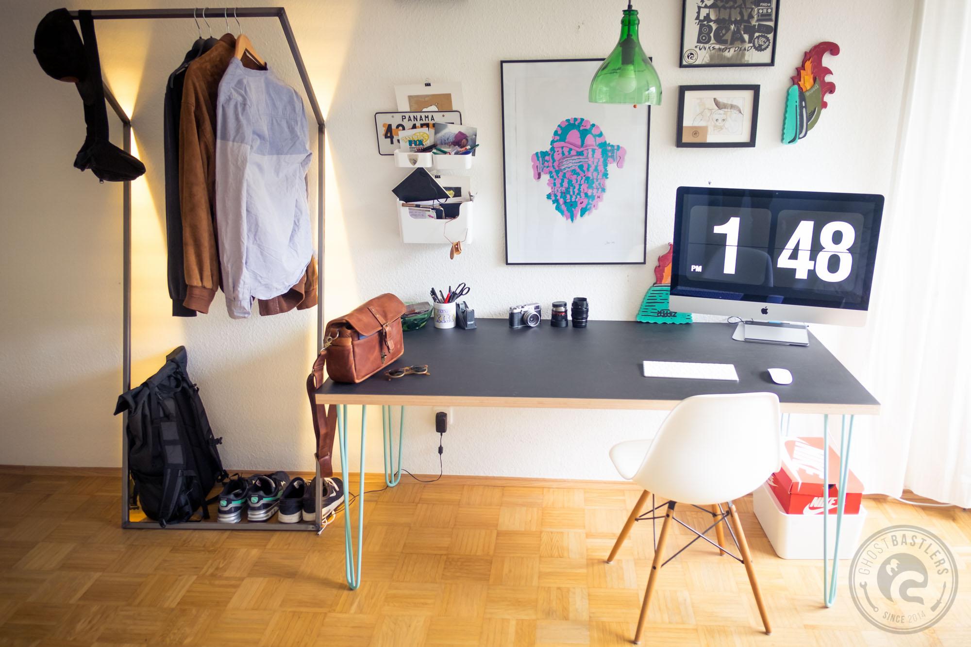 ghostbastlers hairpin legs schreibtisch. Black Bedroom Furniture Sets. Home Design Ideas