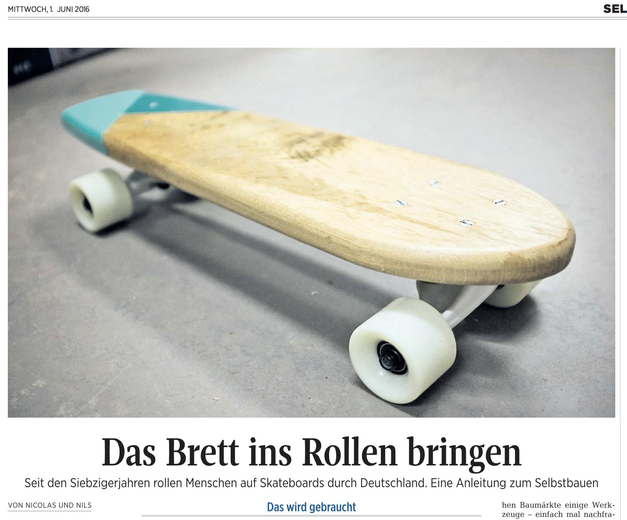Kieler Nachrichten – Das Brett ins Rollen bringen